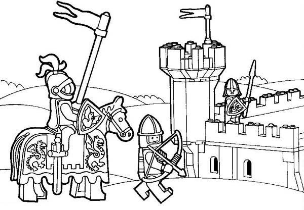 knight kingdom lego coloring page sky