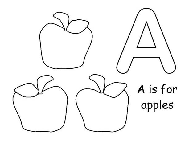 Learn To Count Apple Coloring Page Coloring Sky