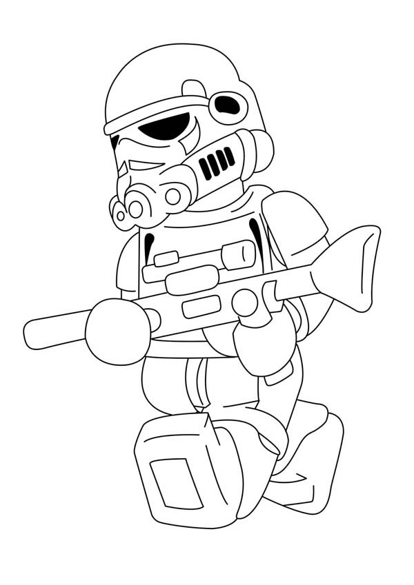 Lego Stormtrooper Coloring Page Coloring Sky