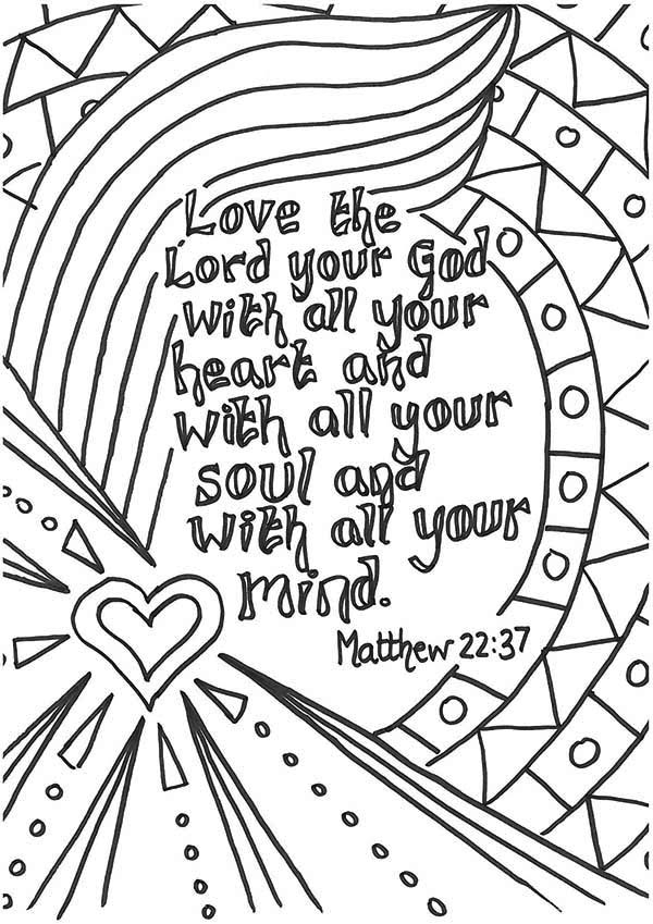 Lords Prayer Card Coloring Page Coloring Sky