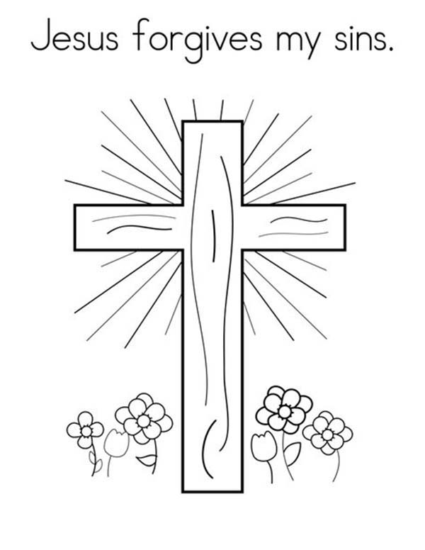 Lords Prayer For Forgiveness Coloring Page Coloring Sky
