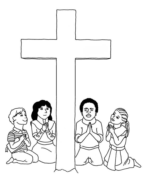 This is a photo of The Lord's Prayer Coloring Pages Printable intended for debt free