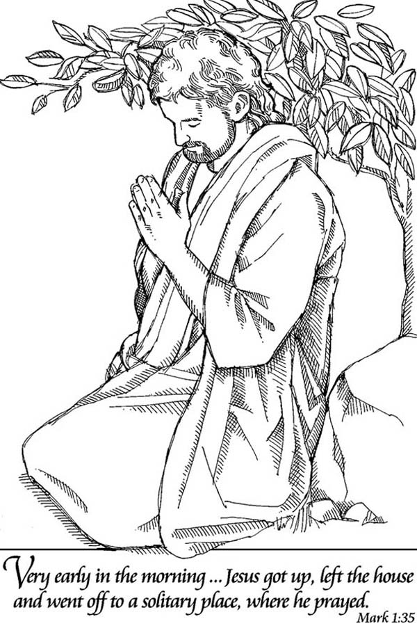 Lords Prayer To Solitary Place Coloring Page Coloring Sky