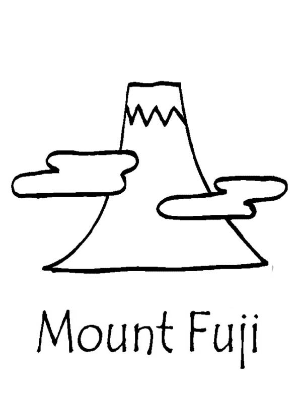 Mount Fuji Of Japan Coloring Page Coloring Sky