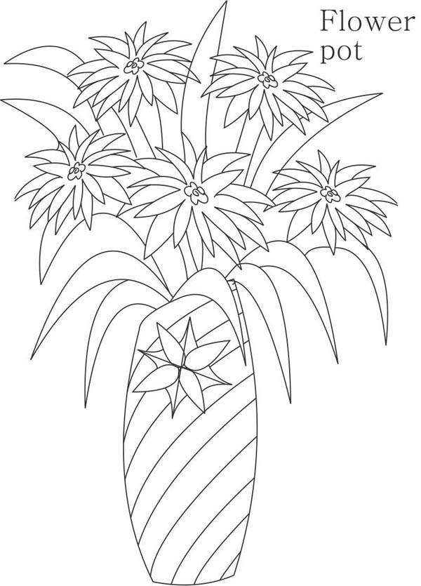 My Mother Flower Vase Coloring Page Coloring Sky