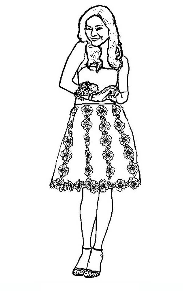 High School Musical, : Night Perform in High School Musical Coloring Page