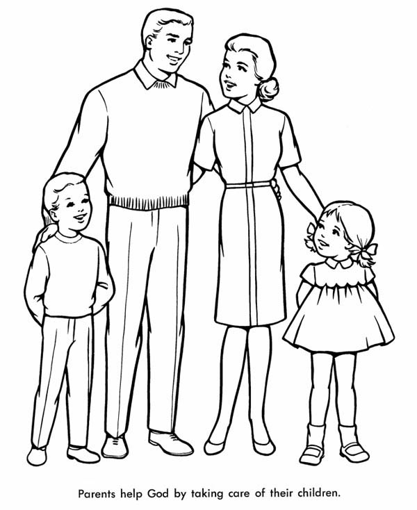Family, : Perfect Family Coloring Page