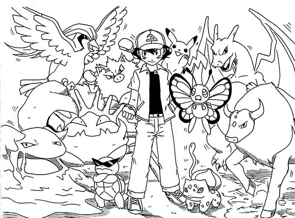 All Ash Pokemon | Pokemon coloring pages, Pokemon coloring ... | 442x600