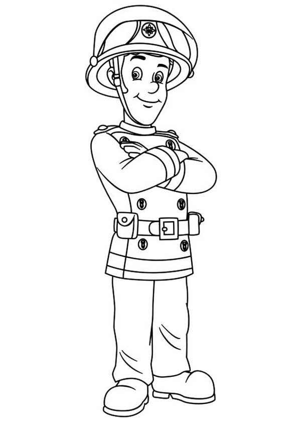 coloring book pages fireman - photo#7