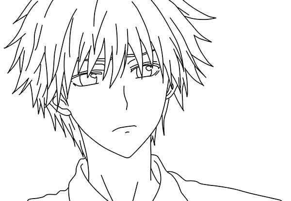 Picture Of Usui Takumi Anime Coloring Page Coloring Sky
