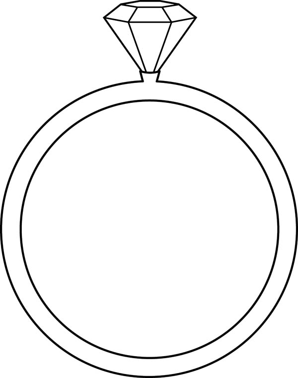Jewelry, : Precious Stone Ring Jewelry Coloring Page