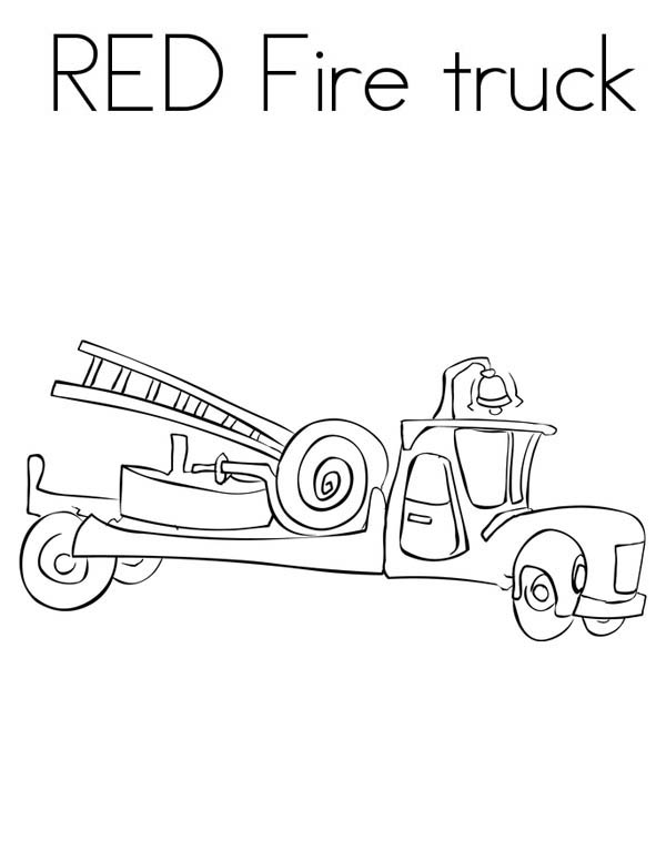 Red Fire Truck Picture Coloring Page : Coloring Sky