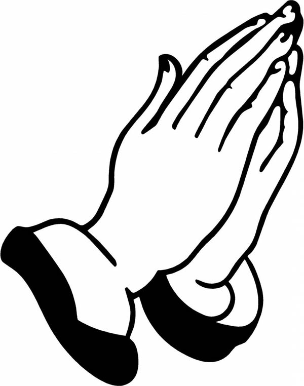 Religius Hand Coloring Page | Coloring Sky