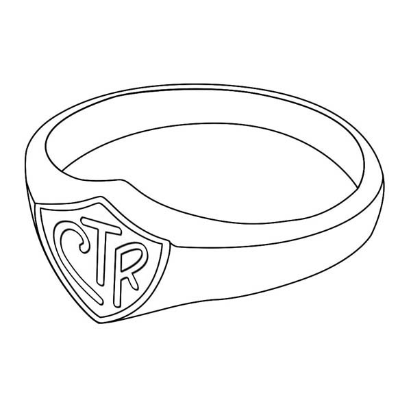 Jewelry, : Ring Jewelry for Wedding Coloring Page