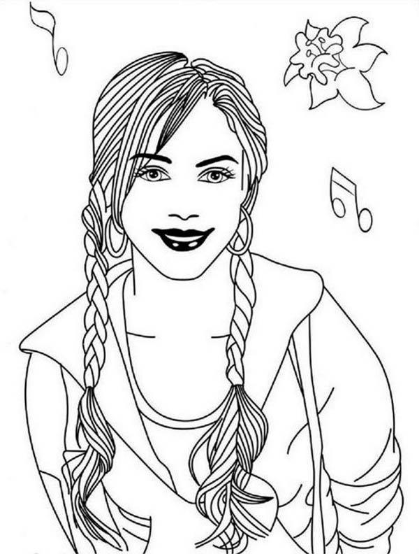 Romantic Musical Drama High School Musical Coloring Page