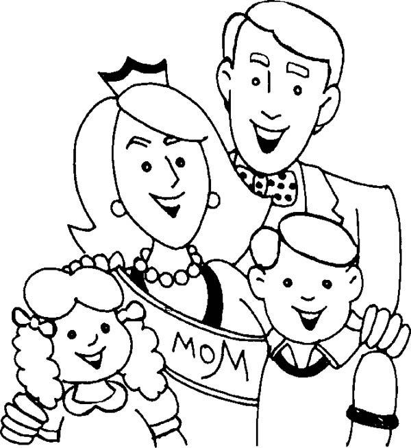Family photo coloring pages ~ Royal Family Coloring Page : Coloring Sky