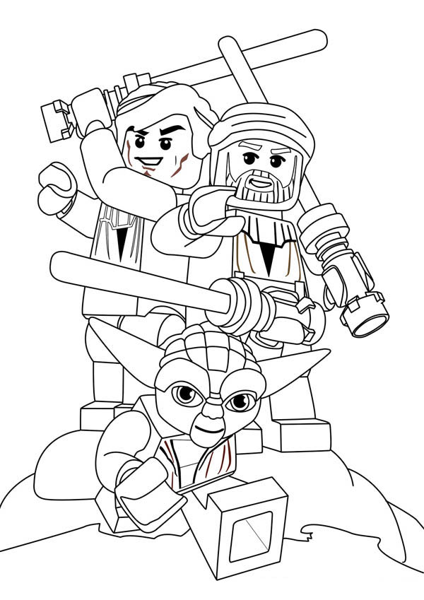 free coloring pages and star wars | Star Wars Characters Lego Coloring Page : Coloring Sky