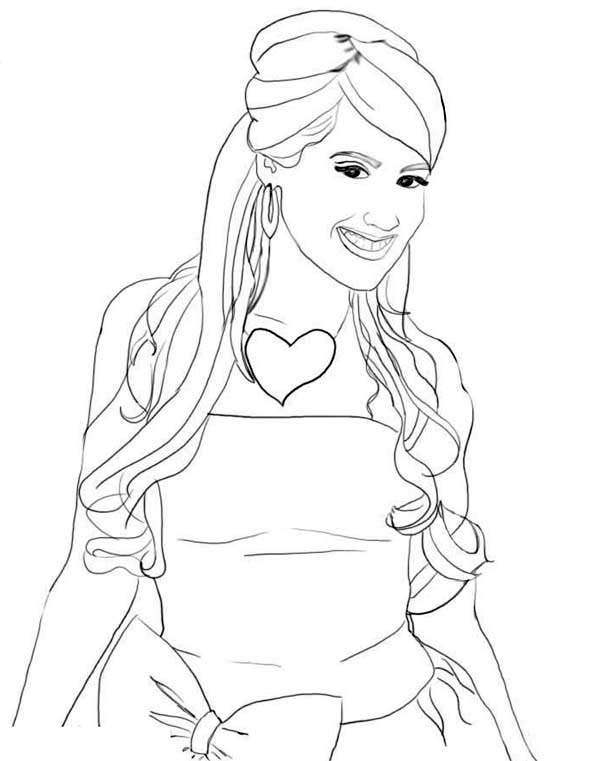 High School Musical, : Stunning Ashley Tisdale in High School Musical Coloring Page