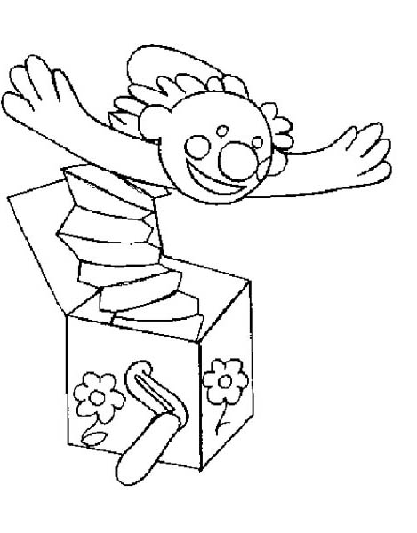 Jack in the Box, : Surprising People with Jack in the Box Coloring Page