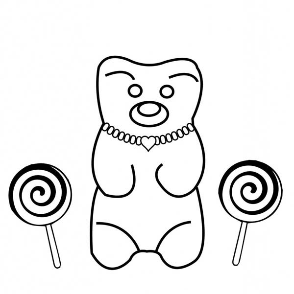 Jewelry, : Teddy Bear Wearing Jewelry Coloring Page