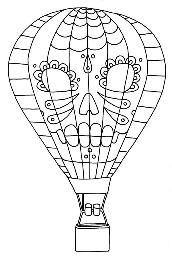 Tribal Hot Air Balloon Coloring