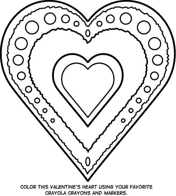 Jewelry, : Valentines Jewelry Coloring Page