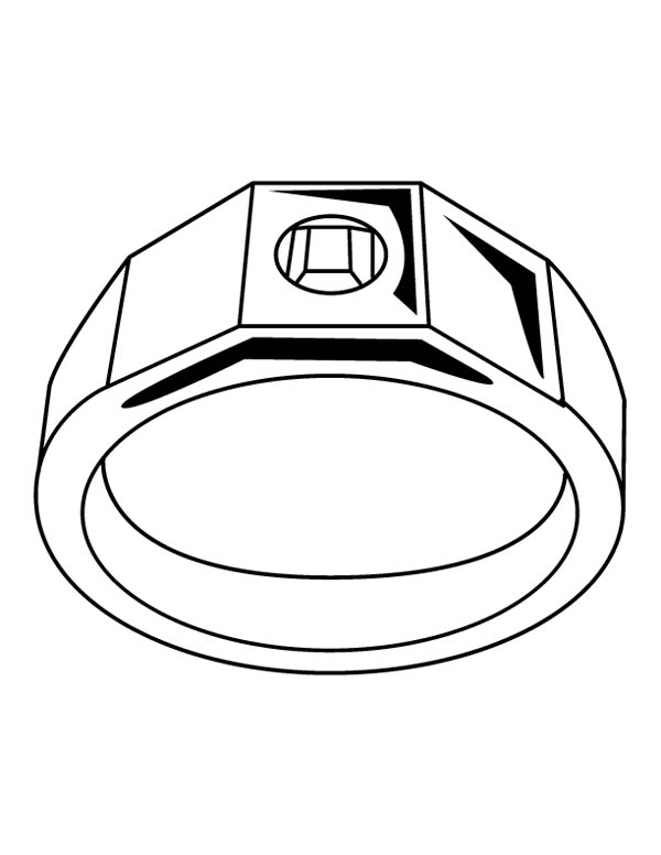 Jewelry, : Wedding Ring Jewelry Coloring Page