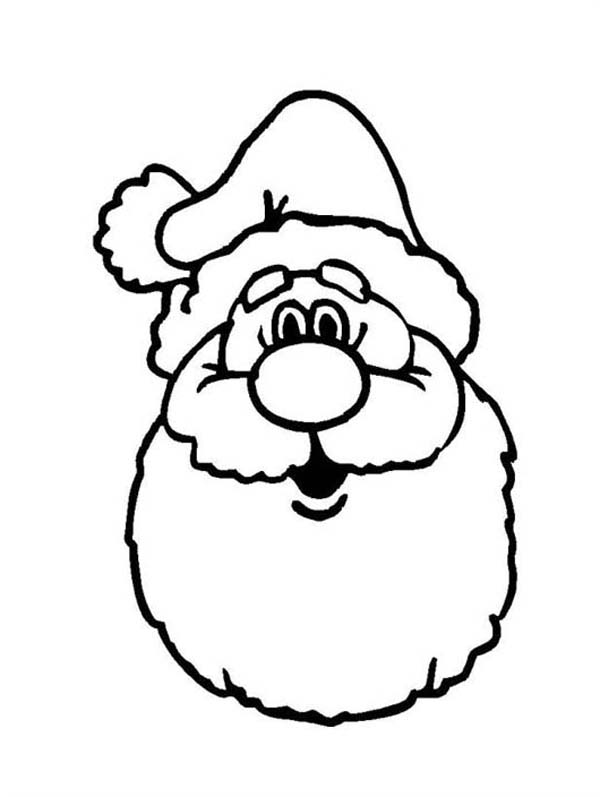 santa in a car images coloring pages | A Classic Ho Ho Ho Laugh Of Santa Claus On Christmas ...