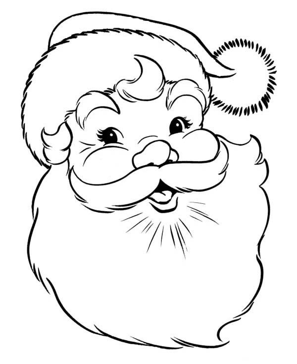 Christmas, : A Joyful Happy Merry Christmas from Santa Claus on Christmas Coloring Page