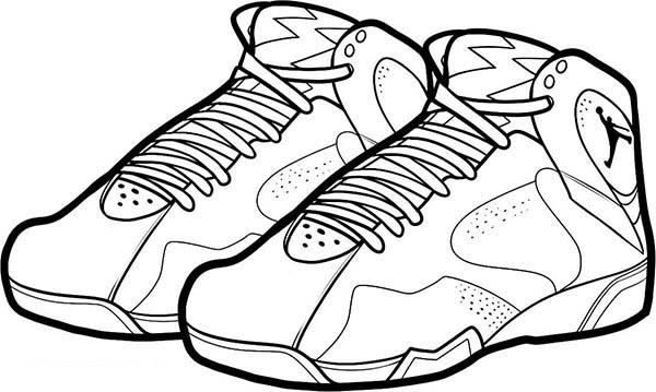 Air Jordan Bordeaux Shoes Coloring Page | Coloring Sky
