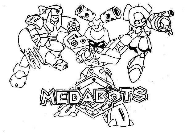 Medabots, : All Characters Medabots Coloring Page