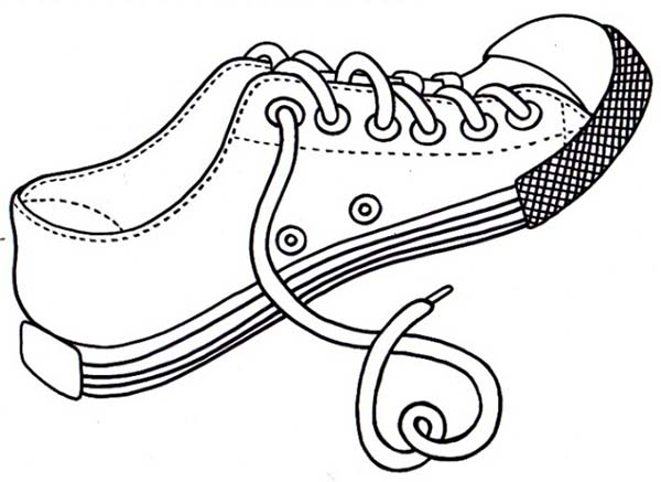 Shoes, : All Stars Shoes Coloring Page