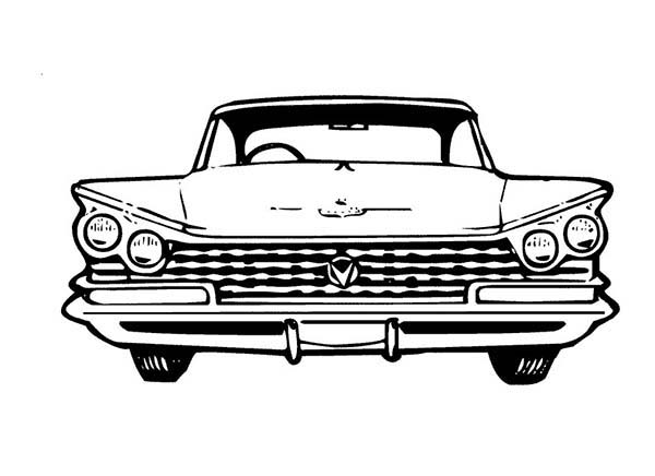 An Old Car Chevy Impala Coloring Page Coloring Sky