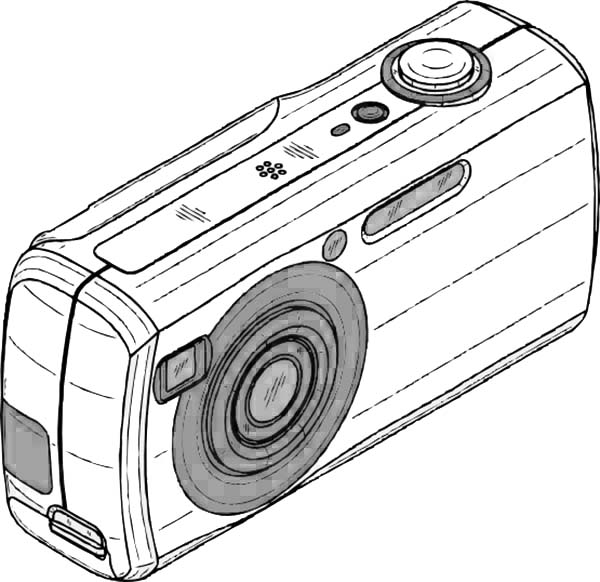 Photography, : An Old Digital Camera in Photography Coloring Page