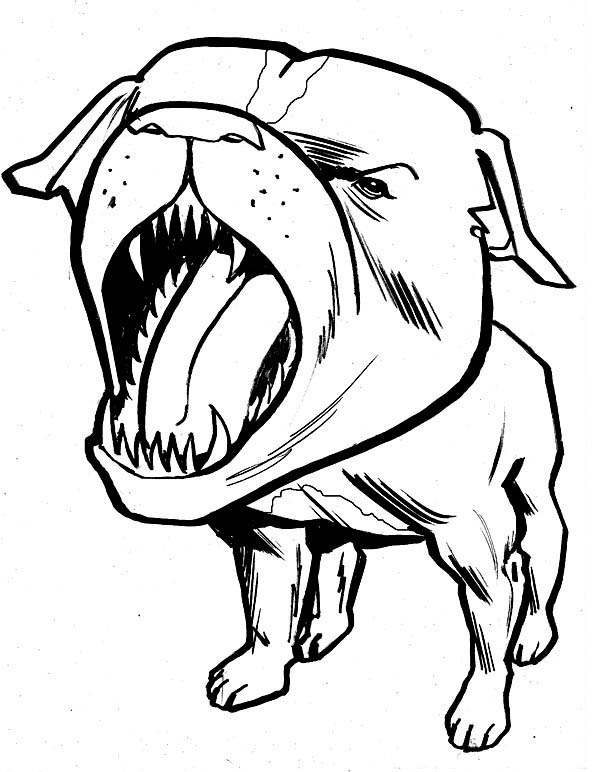 It's just a graphic of Monster Dog Barking Drawing
