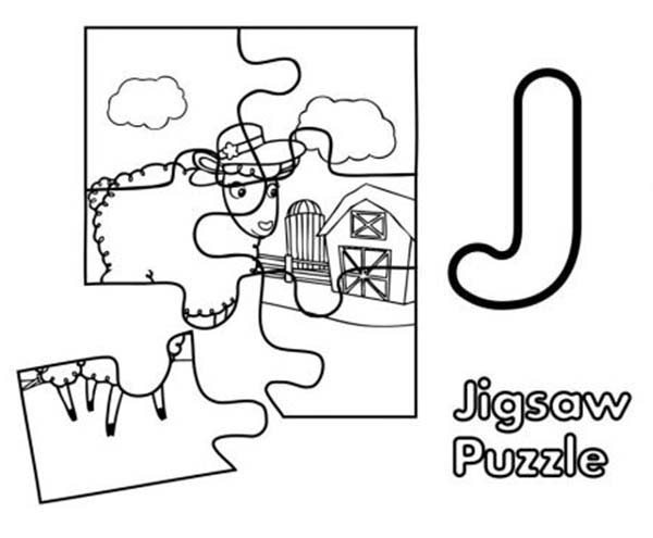 Puzzles, : Animal Jigsaw Puzzles Coloring Page