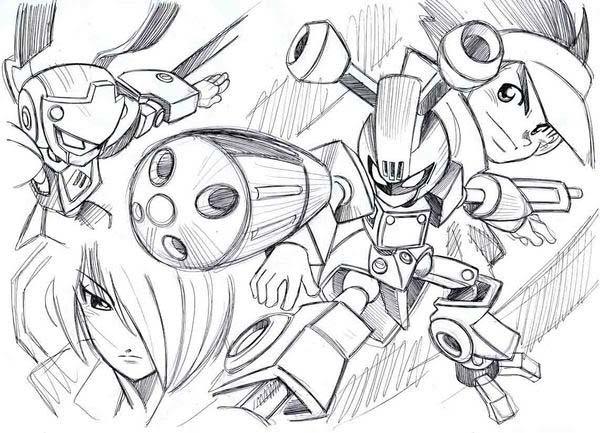 Medabots, : Awesome Drawing of Medabots Coloring Page