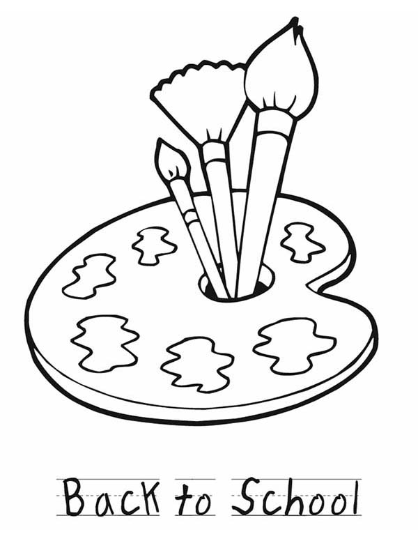 Back To School Paint Coloring Page : Coloring Sky