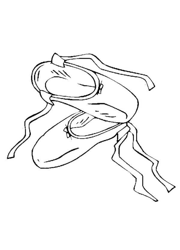 Ballet Shoes Picture Coloring Page : Coloring Sky