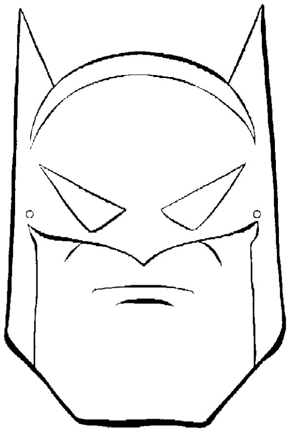Batman Mask Coloring Page Coloring Sky