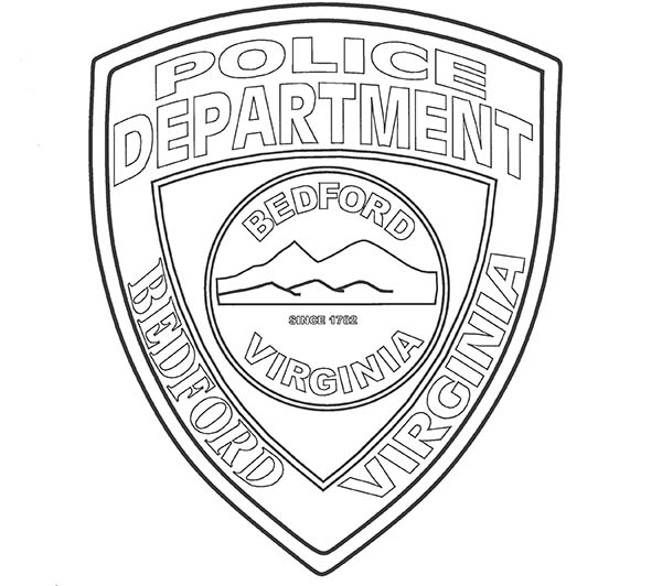 Police Badge, : Berford Virginia Police Badge Coloring Page