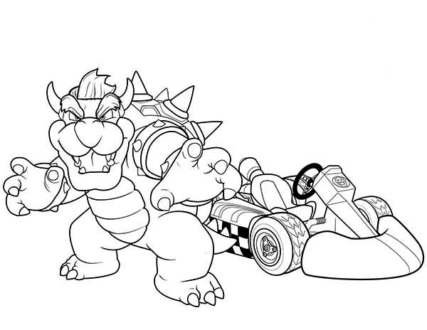 Superwhy, : Brachiosaurus Go Kart Champion in Superwhy Coloring Page