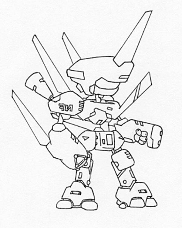 Medabots, : Chibi Helix Beetle Medabots Coloring Page