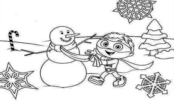 Superwhy, : Christmas Superwhy Coloring Page