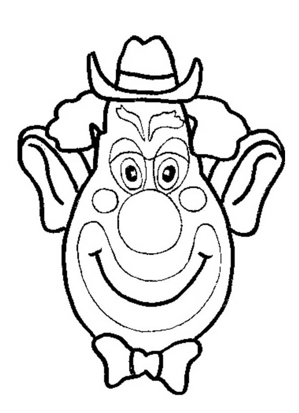 Clown Funny Silly Face Coloring Page Coloring Sky