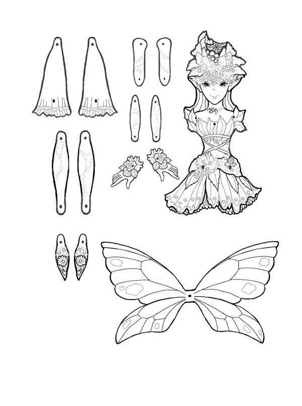 Puppet, : Cobweb Puppet Part Coloring Page