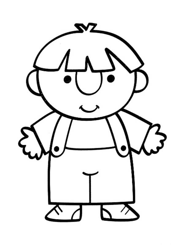 People, : Cute People Baby Coloring Page