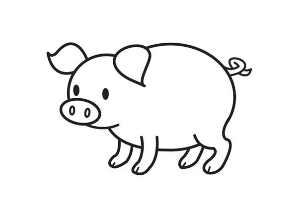 Cute Pig Coloring Page | Coloring Sky