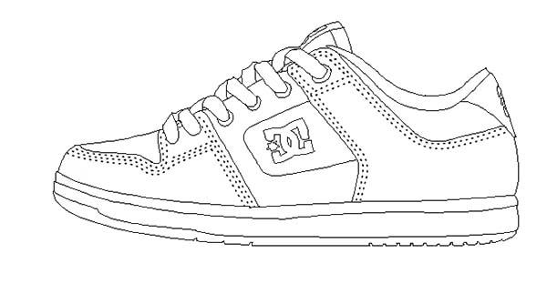 Shoes, : DC Shoes Coloring Page