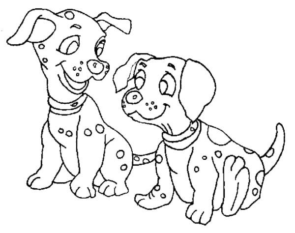Pet, : Dalmatian Dog for Pet Coloring Page